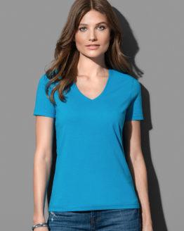 ST2700 T-Shirt col V manches courtes femme